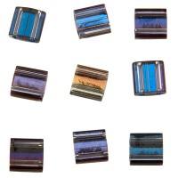 Miyuki Tila Bead 5 mm, crystal Helio, Röhrchen mit ca. 7,2 gr
