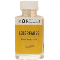 Morello Lederfarbe, Flasche mit Auftragepinsel, 40 ml,  Wollweiß