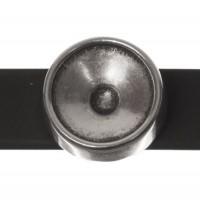 Fassung Slider / Schiebeperle für Swarovski Rivoli 12 mm, versilbert