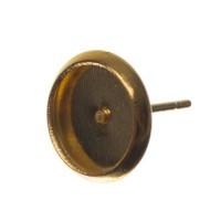 Ohrstecker mit Fassungen für Cabochon, rund 8 mm, goldfarben