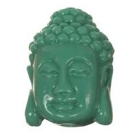 Perle Buddhakopf, 27 x 18 mm, Synthetische Koralle, türkisgrün