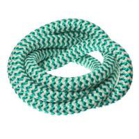 Segelseil / Kordel, Durchm. 10 mm, Länge 1 m, grün-weiß gestreift