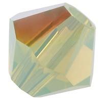 Preciosa Rondelle Bead/Bicone, 4 mm, chrysolite opal