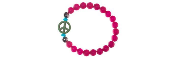 Armband Polaris Peace Himbeer