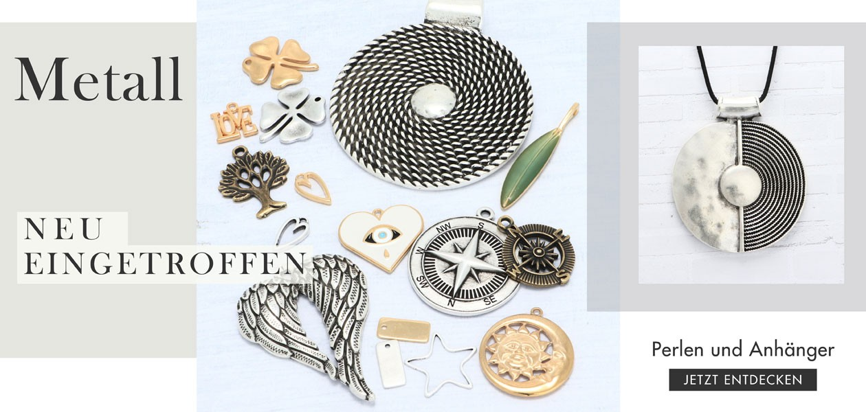 Metallperlen und Metallanhänger