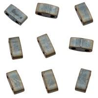 Miyuki Half Tila Bead 5 mm, matte metallic silver gray, Röhrchen mit ca. 7,8 gr