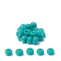 Miyuki Rocailles rund 6/0 (ca. 4 mm), Turquoise Green Opak, ca. 20 gr
