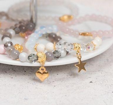 DIY-Anleitung für Armbänder aus Edelsteinperlen und Metallperlen