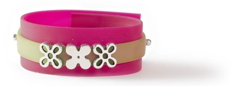 Doppelarmband mit Sliderperlen Blume