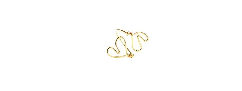 Goldener Ring Doppeltes Herz