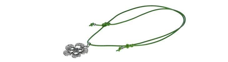 Grüne Lederband-Kette