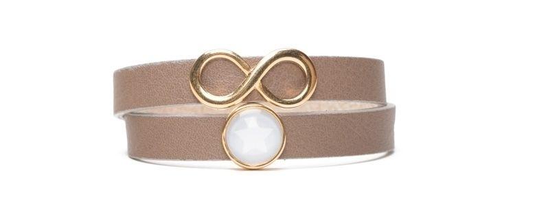 Milano-Armband mit Infinity Slider Terra