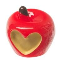 Kunststofffigur für Glaskugeln Apfel, 14 x 14 x 15 mm, rot