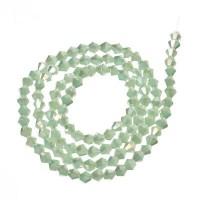 Strang Glasfacett  Bicone, 4 x 4 mm, peridot alabaster AB, Länge des Strangs ca. 40 cm