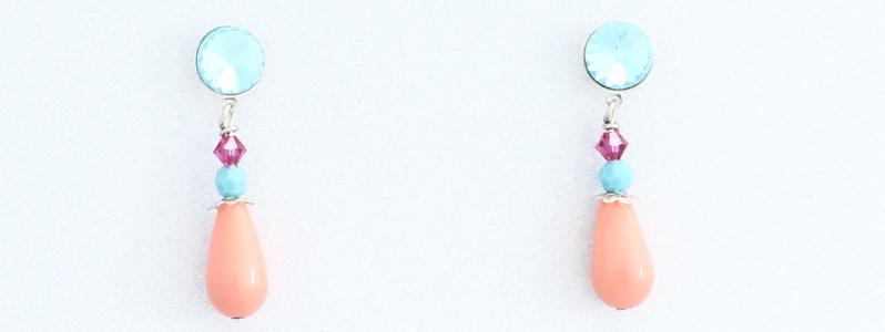 Ohrringe mit Perlen von Preciosa Tropfen Koralle