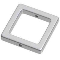 Metal-Effect-Element Viereck 23 mm, silberfarben matt