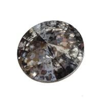Swarovski Rivoli (1122), SS39  (ca. 8 mm), crystal silver patina