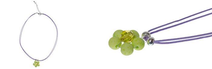 Süßer Blumenanhänger Hellgrün