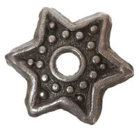 Metallperle Perlkappe, ca. 9 mm, versilbert