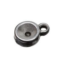 Fassung für Swarovski Chatons SS29 mm, eine Öse, versilbert