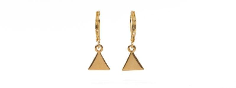 Geometrics-Ohrhänger Spitzen Vergoldet