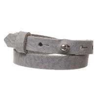 Craft Lederarmband für Sliderperlen, Breite 10 mm, Länge 39 - 40 cm, steel