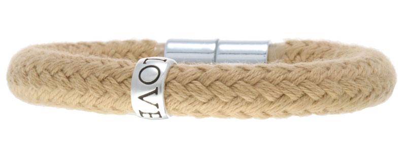 Segeltau Armband Magnetverschluss mit Love