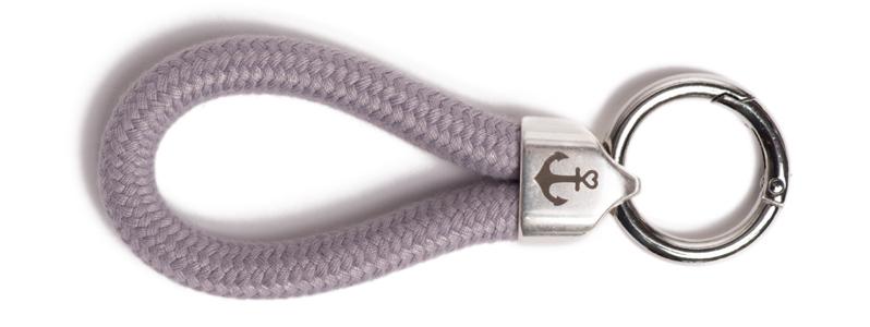 Maritimer Schlüsselanhänger aus Segeltau Pastelllilia