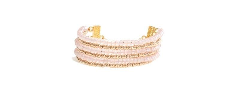 Goldschöne Armbänder Pale Pink