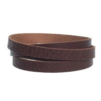 Breites Büffel-Lederband, 10 mm x 1,8  mm, Länge 1 m, mittelbraun