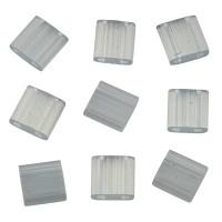 Miyuki Tila Bead 5 mm, silk pale light gray, Röhrchen mit ca. 7,2 gr