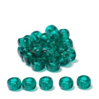 Miyuki Rocailles rund  6/0 (ca. 4 mm), Emerald Transparent, 20 gr.