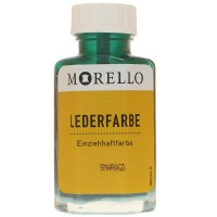 Morello Lederfarbe, Flasche mit Auftragepinsel, 40 ml,  Smaragd