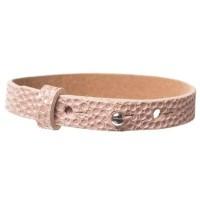 Milano Glam Lederarmband für Sliderperlen, Breite 10 mm, Länge 25 cm, primrose pink mit Metallic
