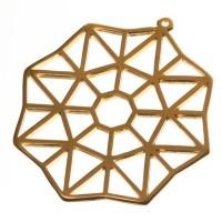 Metallanhänger Octagon, 46 x 44 mm, vergoldet