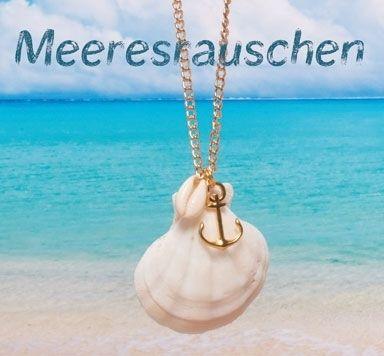 Meeresrauschen - Muschelanhänger und -Perlen