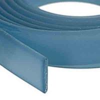Flaches PVC-Band 10 x 2 mm,  türkisblau, 1 m