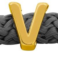 Grip-It Slider Buchstabe V or Λ, für Bänder bis 5mm Durchmesser, vergoldet