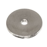Metallperle Scheibe,  ca. 8 mm, silberfarben, wie MP25
