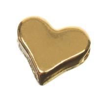 CM Metallperle Herz, 6,0 x 7,0 mm, goldfarben