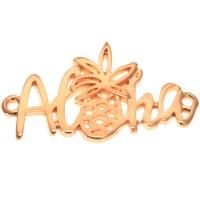 "Armbandverbinder ""Aloha"", 30 x 17 mm, vergoldet"