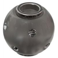Polaris-Bead, Kugel, 14 mm, dunkelgrau glänzend Swarovski