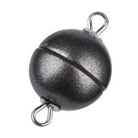 Magic-Power-Magnetverschluss Kugel 8 mm, mit Ösen, granit