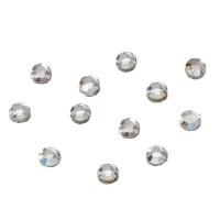 Flat Back Strass, rund, SS12, crystal, 12 Stück