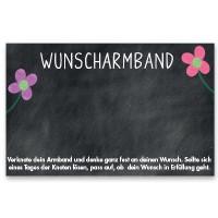 "Schmuckkarte ""Wunscharmband"", quer, schwarz, Größe 8,5 x 5,5 cm"