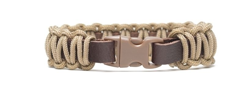 Armband mit Segelseil und Klick-Verschluss Braun