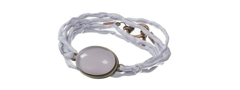 Cabochon Armband Lilac