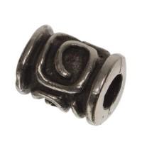 Metallperle, Röhre, ca. 11 x 7 mm