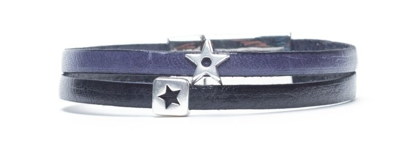 Minisliderarmband Sterne Blau