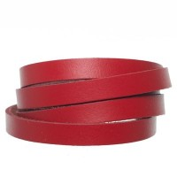Berlin Lederband, 10 mm x 2 mm, Länge 1 m, rot